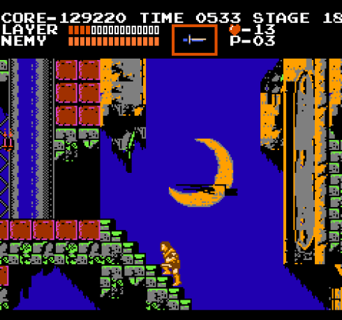 Castlevania NES Dracula is waiting for me at the top of these stairs.