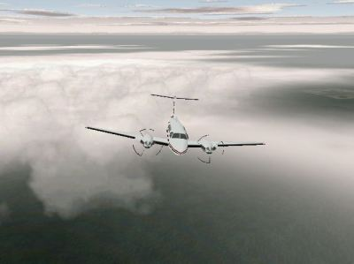 Pro Pilot '99 Windows At altitude in the King Air 200 - nice clouds.