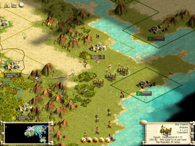 Sid Meier's Civilization III Windows These War Chariots are the special unit of the Egyptians. A victory triggers the golden age for this civilization.
