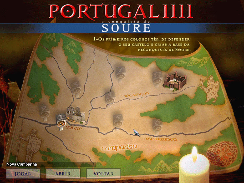 Portugal 1111 Windows This is campaign screen, showing the player position and mission objectives.