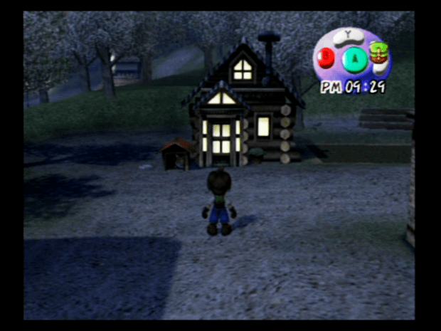 Harvest Moon: A Wonderful Life GameCube After a long day on the farm its time for bed.
