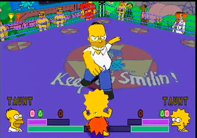 Image result for the simpsons wrestling