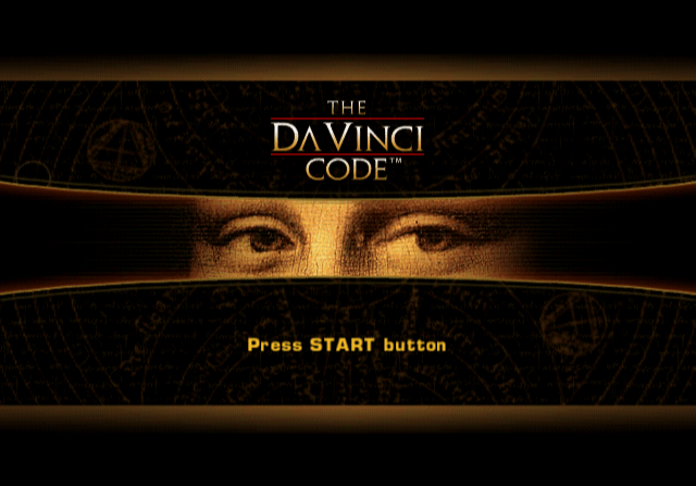 The Da Vinci Code PlayStation 2 Title screen.