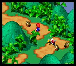 Super Mario RPG: Legend of the Seven Stars SNES Wandering around. Visible enemies