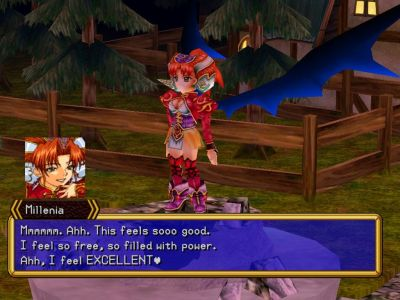 Grandia II Windows Millenia, a mysterious yet powerful character you'll meet on your quest... but, is she to be trusted?