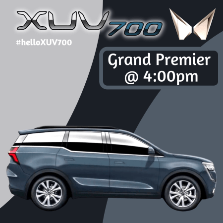 Mahindra XUV700 Grand Premier at 4:00PM 14th August 2021