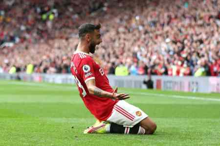 Bruno Fernandes set a Manchester United record in win over Atalanta
