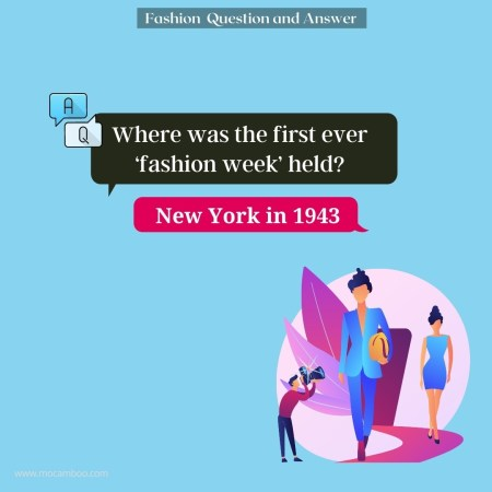 Where was the first ever 'fashion week' held?