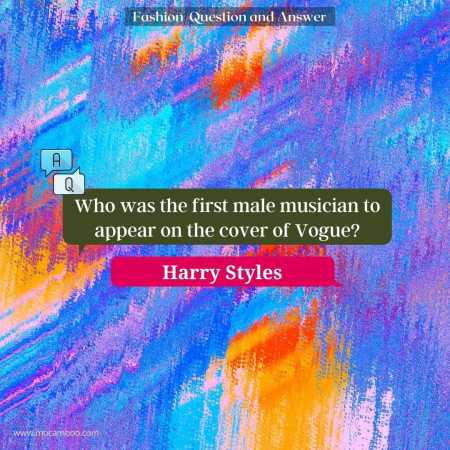 Who was the first male musician to appear on the cover of Vogue?
