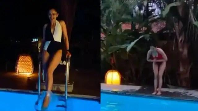 रेड स्विमसूट पहन रकुल प्रीत सिंह ने पूल में लगाई छलांग, वायरल हुआ जबरदस्त हॉट वीडियो