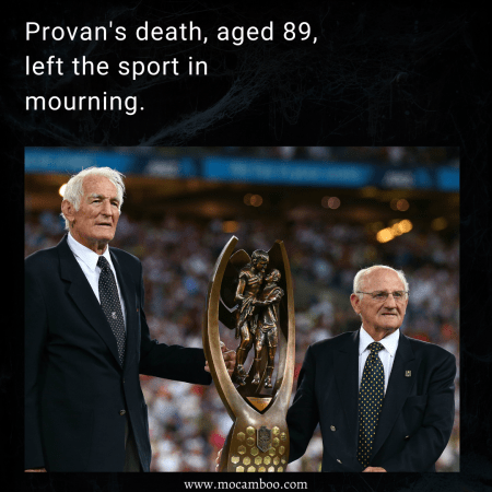 Provan's death, aged 89, left the sport in mourning.