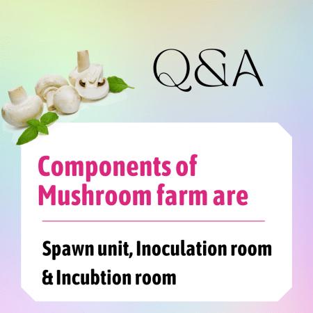 Components of Mushroom farm are