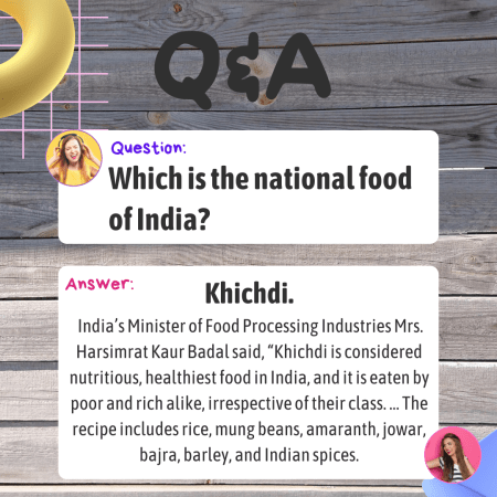 Which is the national food of India?