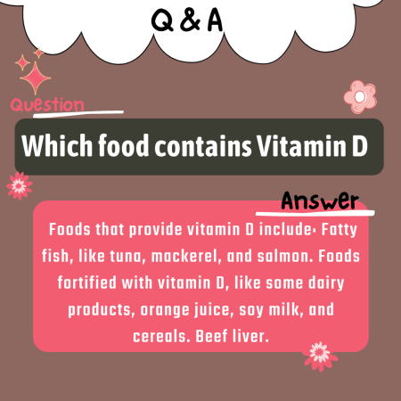 Which food contains Vitamin D