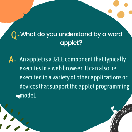 What do you understand by a word applet?
