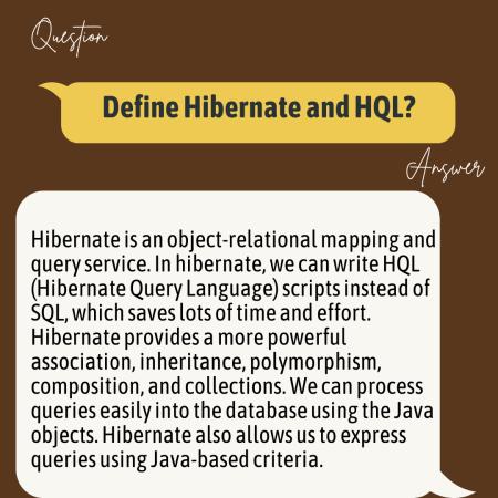 Define Hibernate and HQL?