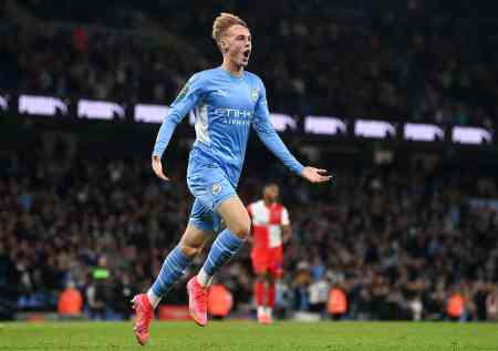 Man City's Palmer, hours after first-team action, nets hat-trick at U23 level