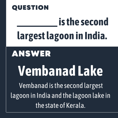 _________ is the second largest lagoon in India.