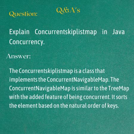 Explain Concurrentskiplistmap in Java Concurrency.
