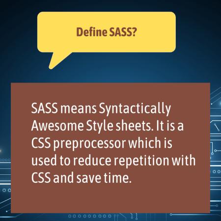 Define SASS?