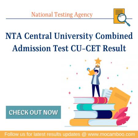 NTA Central University Combined Admission Test CU-CET Result