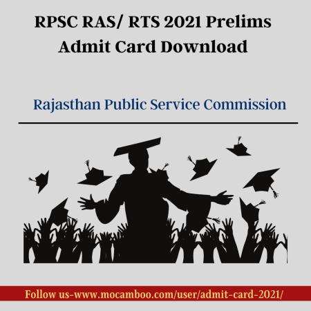 RPSC RAS/ RTS 2021 Prelims Admit Card Download