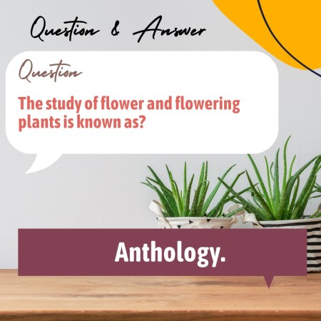 The study of flower and flowering plants is known as?