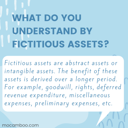 What do you understand by fictitious assets?