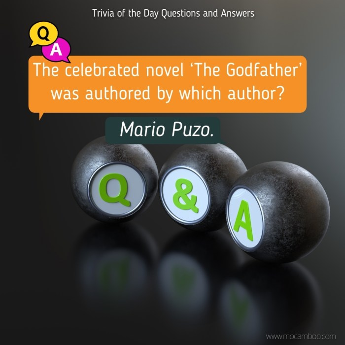 The celebrated novel 'The Godfather' was authored by which author?