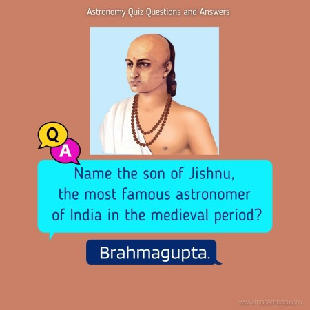 Name the son of Jishnu, the most famous astronomer of India in the medieval period?