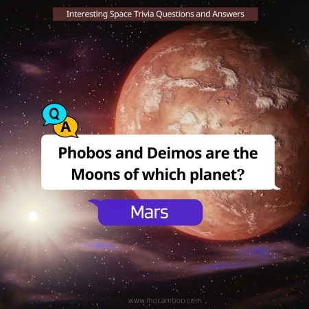 Phobos and Deimos are the Moons of which planet?