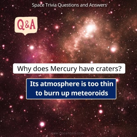 Why does Mercury have craters?