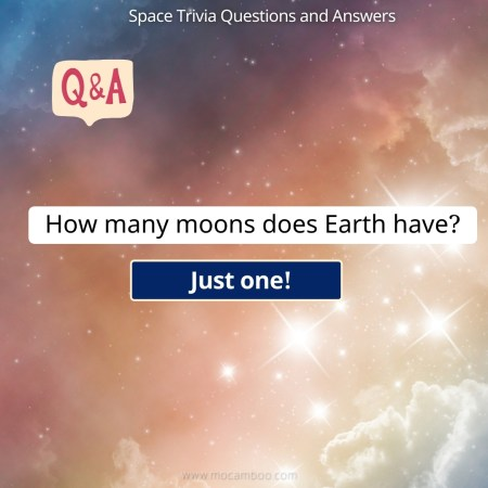 How many moons does Earth have?