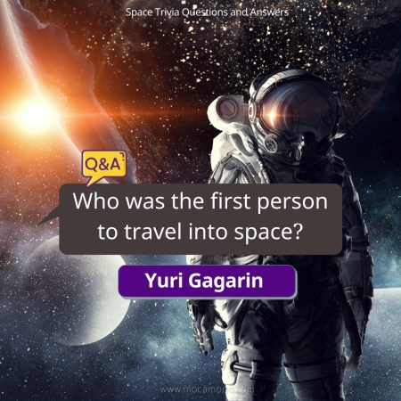 Who was the first person to travel into space?