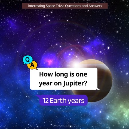 How long is one year on Jupiter?