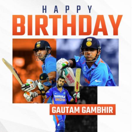 Gautam Gambhir   HBD Gautam Gambhir   Happy Birthday Gautam Gambhir  