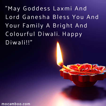 """""""May Goddess Laxmi And Lord Ganesha Bless You And Your Family A Bright And Colourful Diwal ..."""
