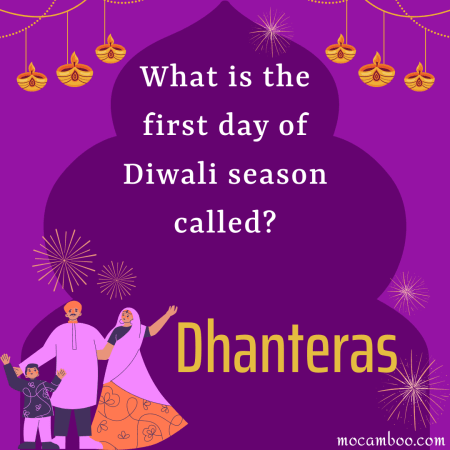 What is the first day of Diwali season called?