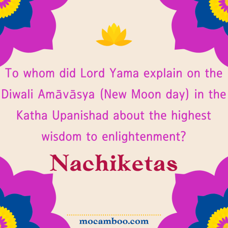 To whom did Lord Yama explain on the Diwali Amāvāsya (New Moon day) in the Katha Upanishad about ...
