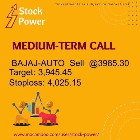 Live  BAJAJ-AUTO  Sell  @3985.30    Trading Call