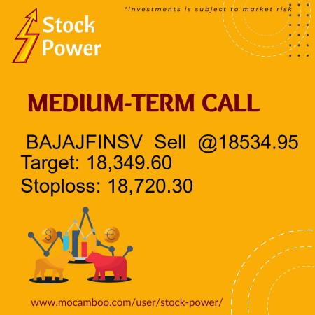 Live  BAJAJFINSV  Sell  @18534.95    Trading Call