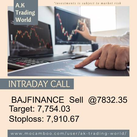 Live  BAJFINANCE  Sell  @7832.35    Trading Call