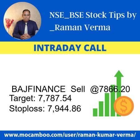 Live  BAJFINANCE  Sell  @7866.20    Trading Call