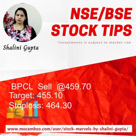 Live  BPCL  Sell  @459.70    Trading Call