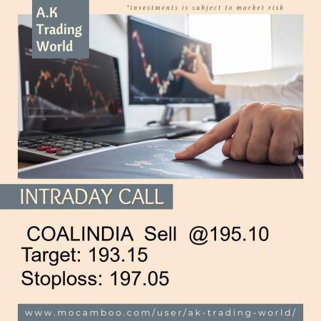 Live  COALINDIA  Sell  @195.10    Trading Call