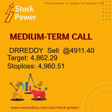 Live  DRREDDY  Sell  @4911.40    Trading Call