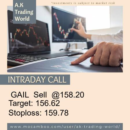 Live  GAIL  Sell  @158.20    Trading Call