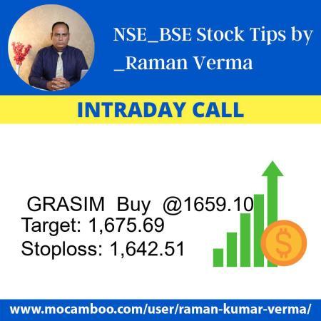 Live  GRASIM  Buy  @1659.10    Trading Call