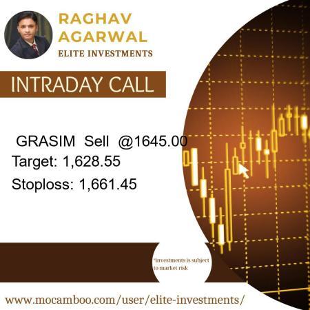 Live  GRASIM  Sell  @1645.00    Trading Call