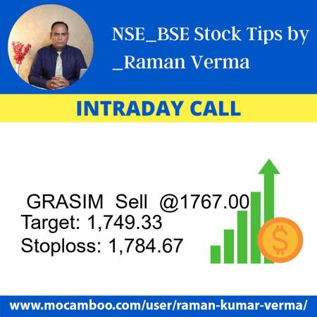 Live  GRASIM  Sell  @1767.00    Trading Call